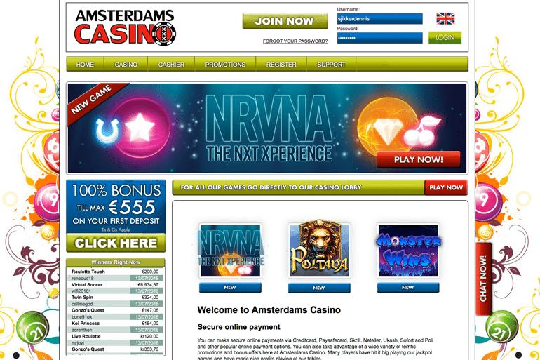 screenshot Amsterdams casino