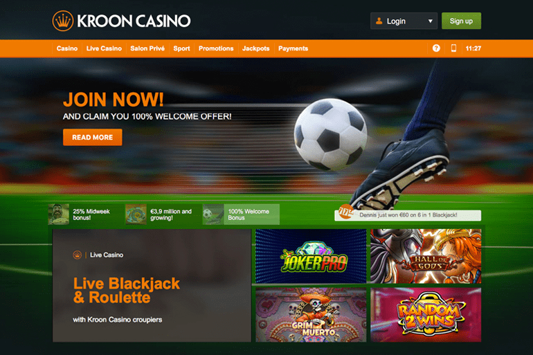 Kroon Casino Screenshot
