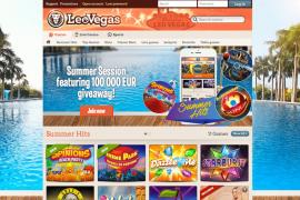 screenshot Leo Vegas