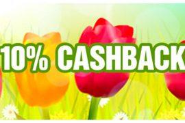 10% Cashback actie
