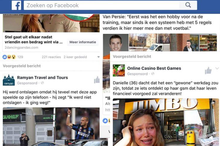 Neppe social media berichten over grote winsten bij online gokken