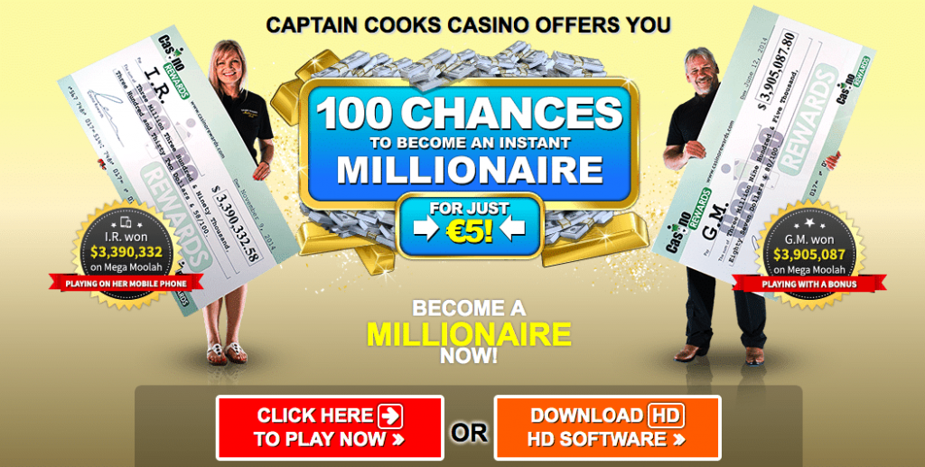 Captain Cooks Casino Lokkertje