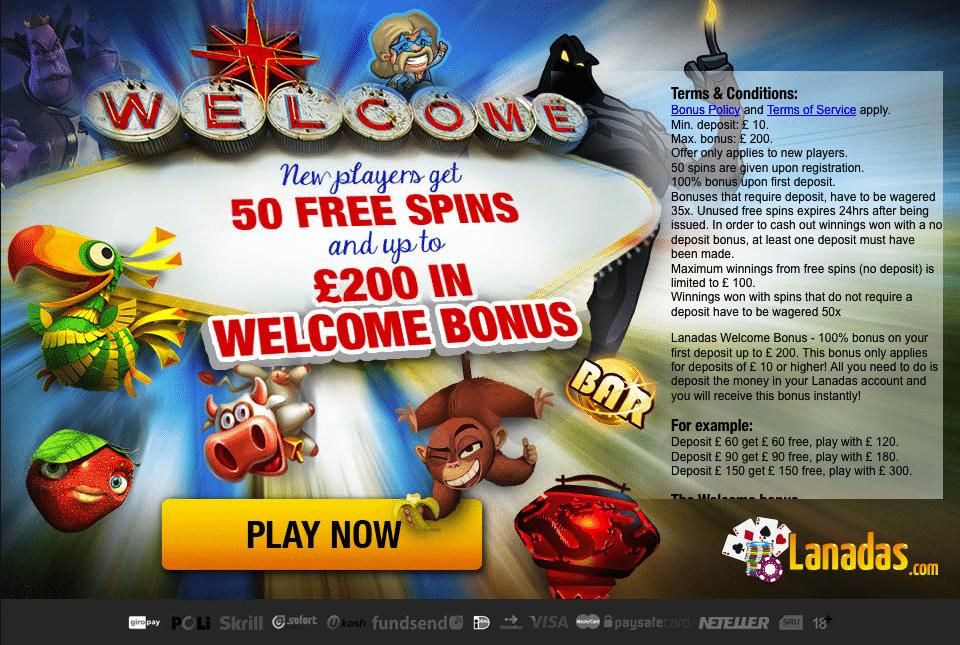 Bonuspagina Lanadas Casino