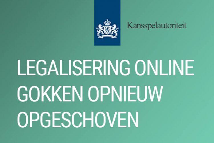 Legalisering online gokken opnieuw opgeschoven