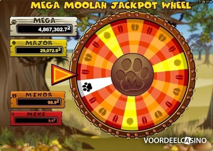 mega moolah jackpot wiel