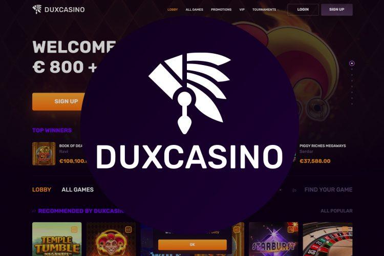 Loterij actie in Dux Casino met progressieve prijzenpot